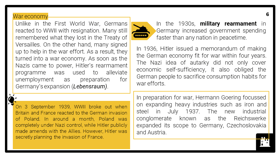 A Level Germany and the Second World War, 1939-1949 Presentation 2