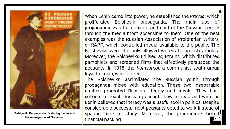 A Level Lenin Society, 1917-1924 Presentation 2