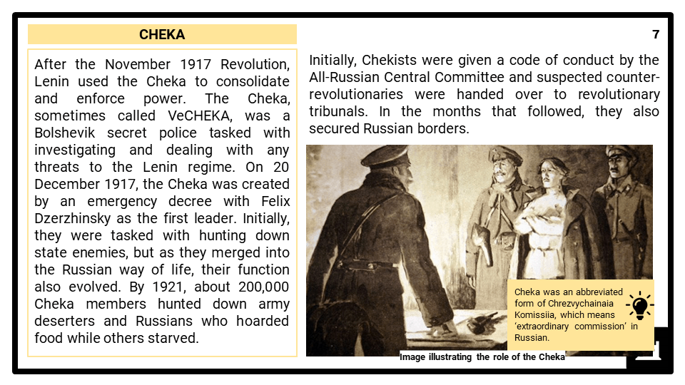 A Level Lenin Society, 1917-1924 Presentation 3