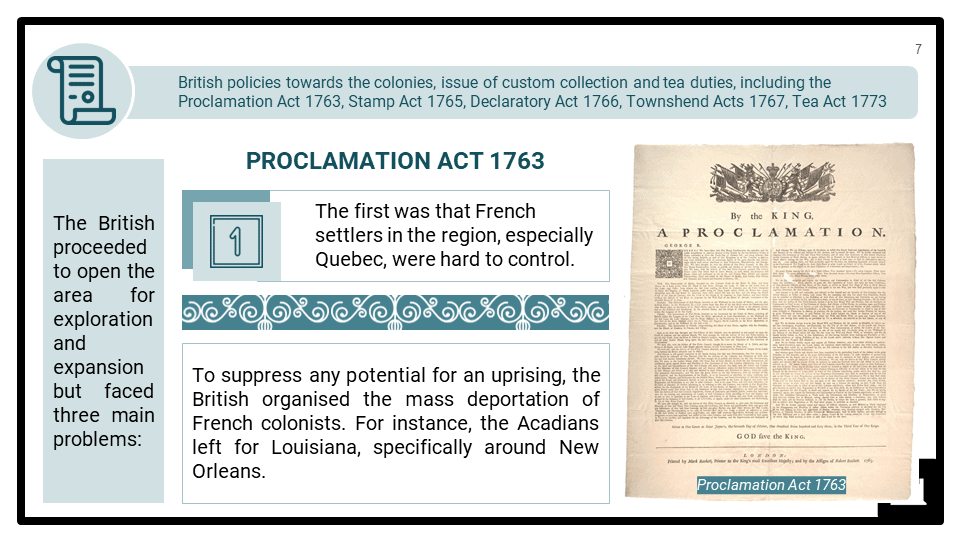 A Level Origins of the American Revolution 1760-1776 Presentation 1
