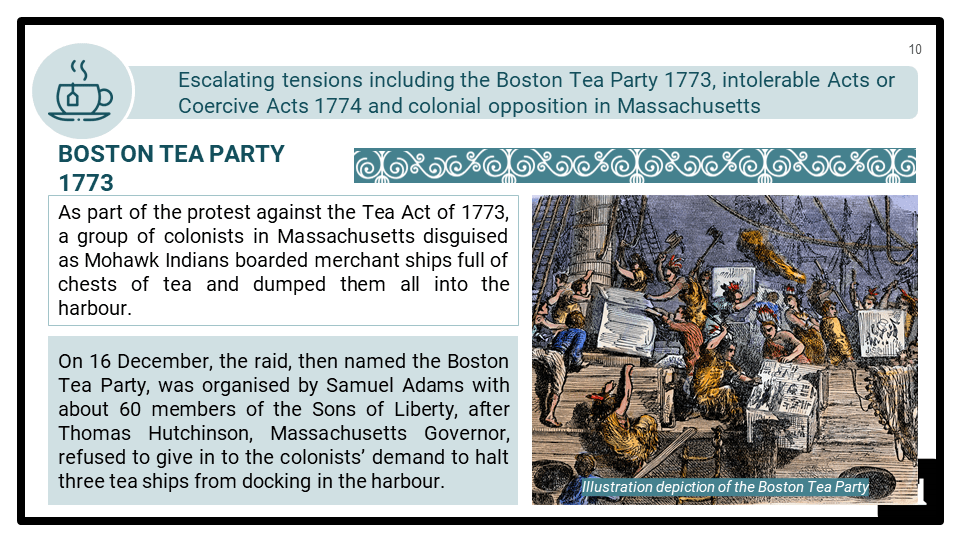 A Level Origins of the American Revolution 1760-1776 Presentation 4