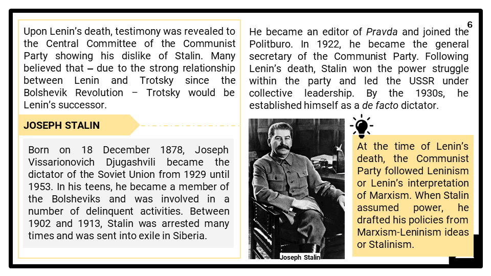 A Level Stalin and the USSR, 1924-1953 Presentation 2