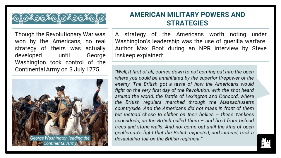 A Level The American War of Independence, 1776-1789 Presentation 2