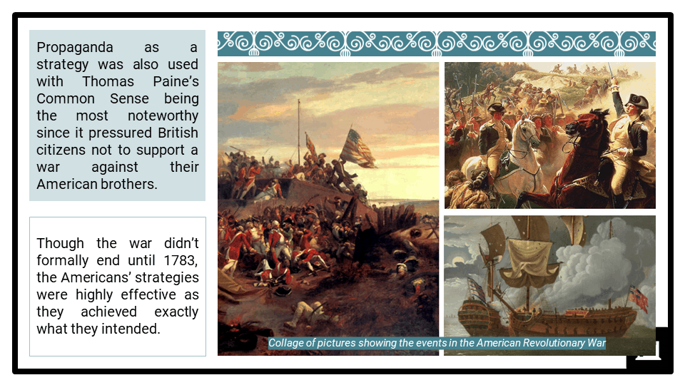 A Level The American War of Independence, 1776-1789 Presentation 3