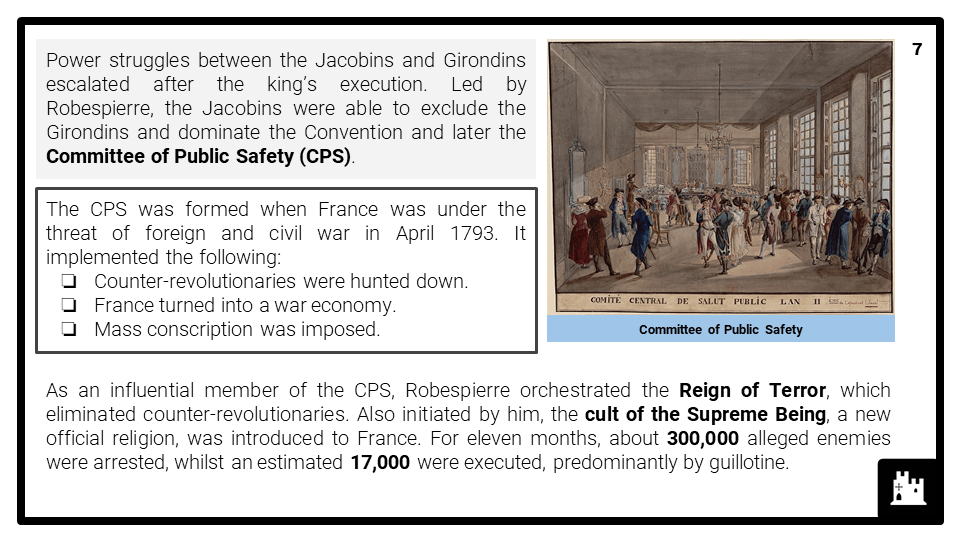 A Level The Reign of Terror, 1792-1795 Presentation 3