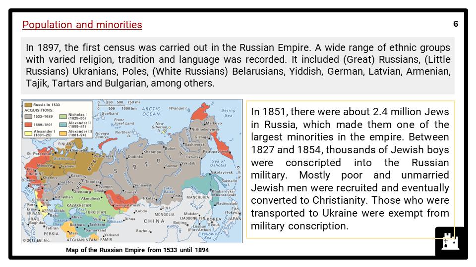 A Level Tsarist Russia, 1855-1917 Presentation 2