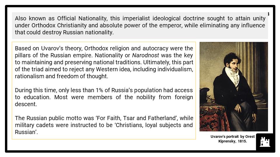 A Level Tsarist Russia, 1855-1917 Presentation 4