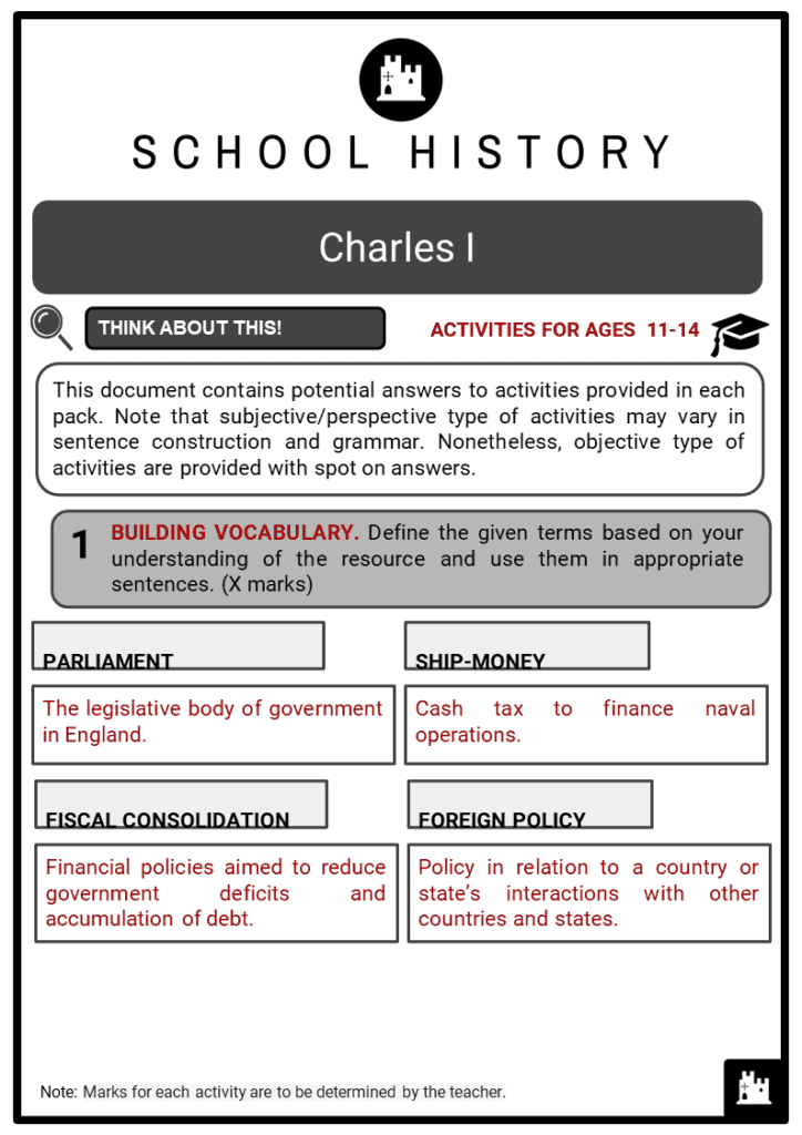 Charles I Student Activities & Answer Guide 2