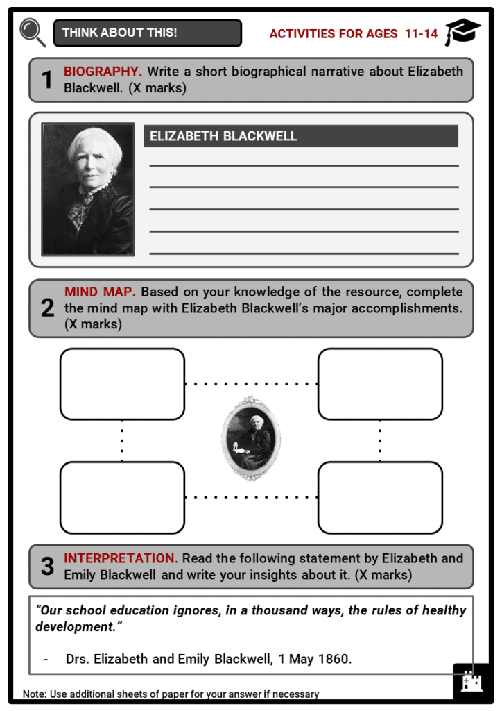 Elizabeth Blackwell Student Activities & Answer Guide 1