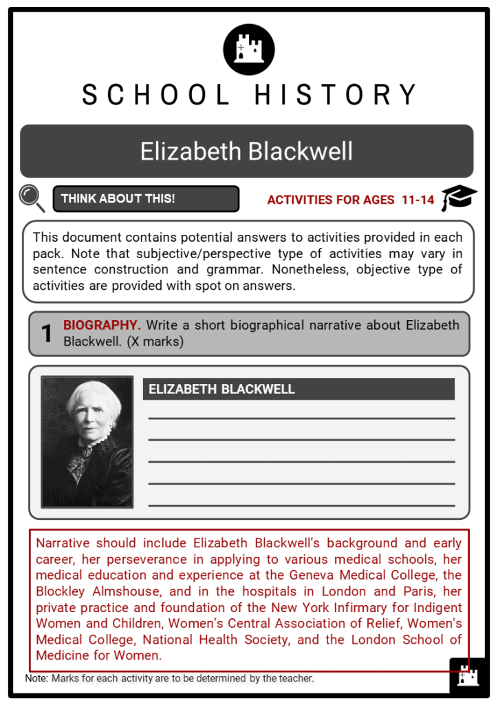 Elizabeth Blackwell Student Activities & Answer Guide 2