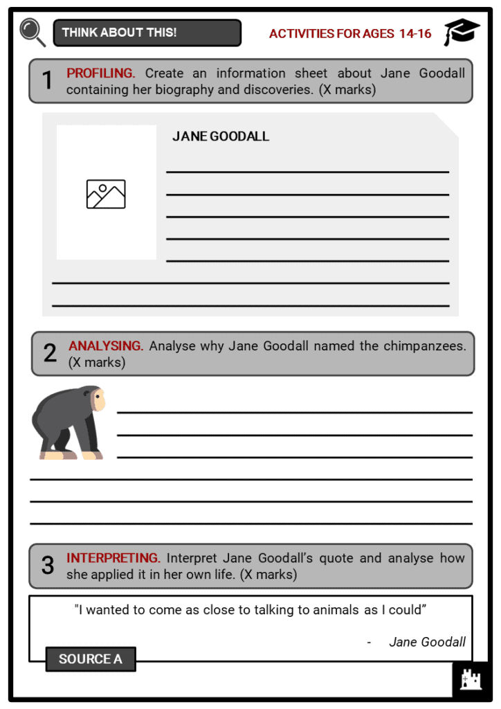 Jane Goodall Student Activities & Answer Guide 3