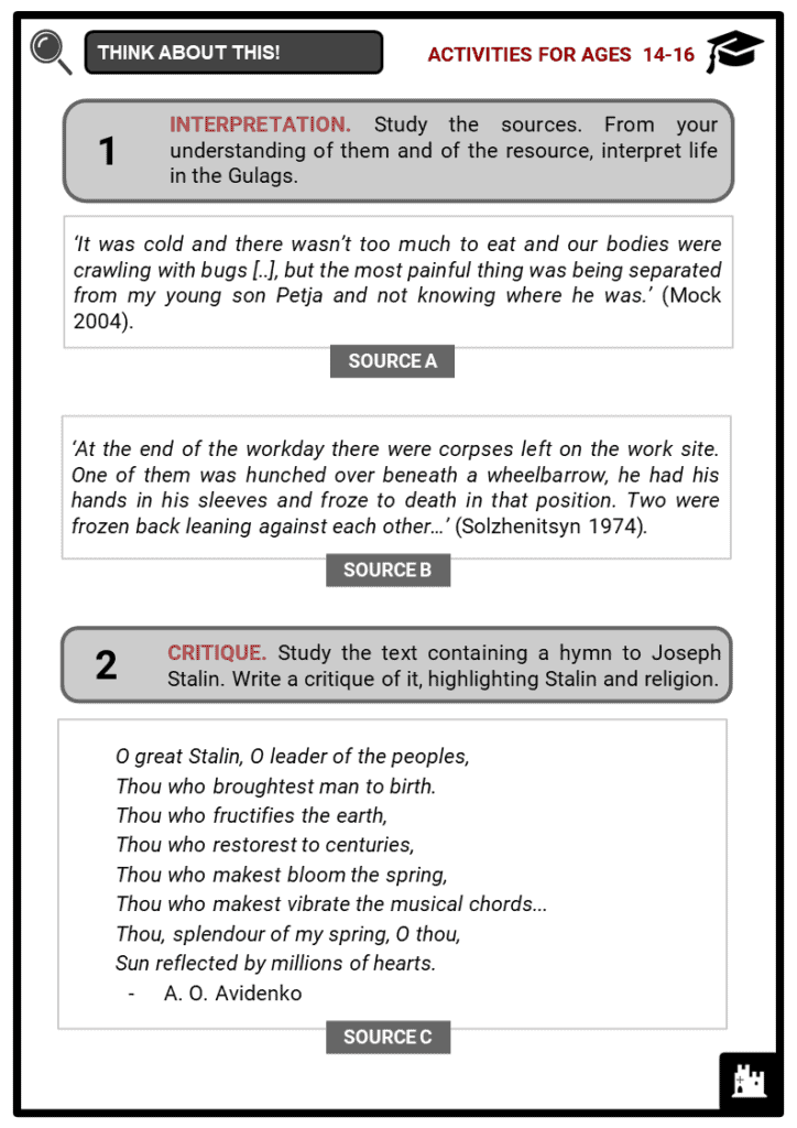 Joseph Stalin Student Activities & Answer Guide 3