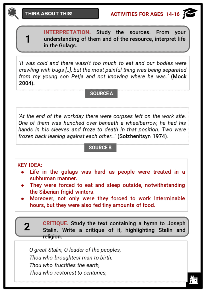 Joseph Stalin Student Activities & Answer Guide 4