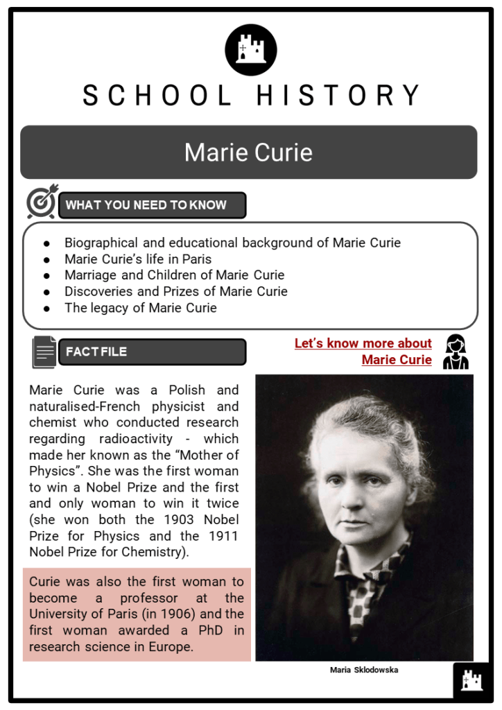 Marie Curie Resource Collection 1