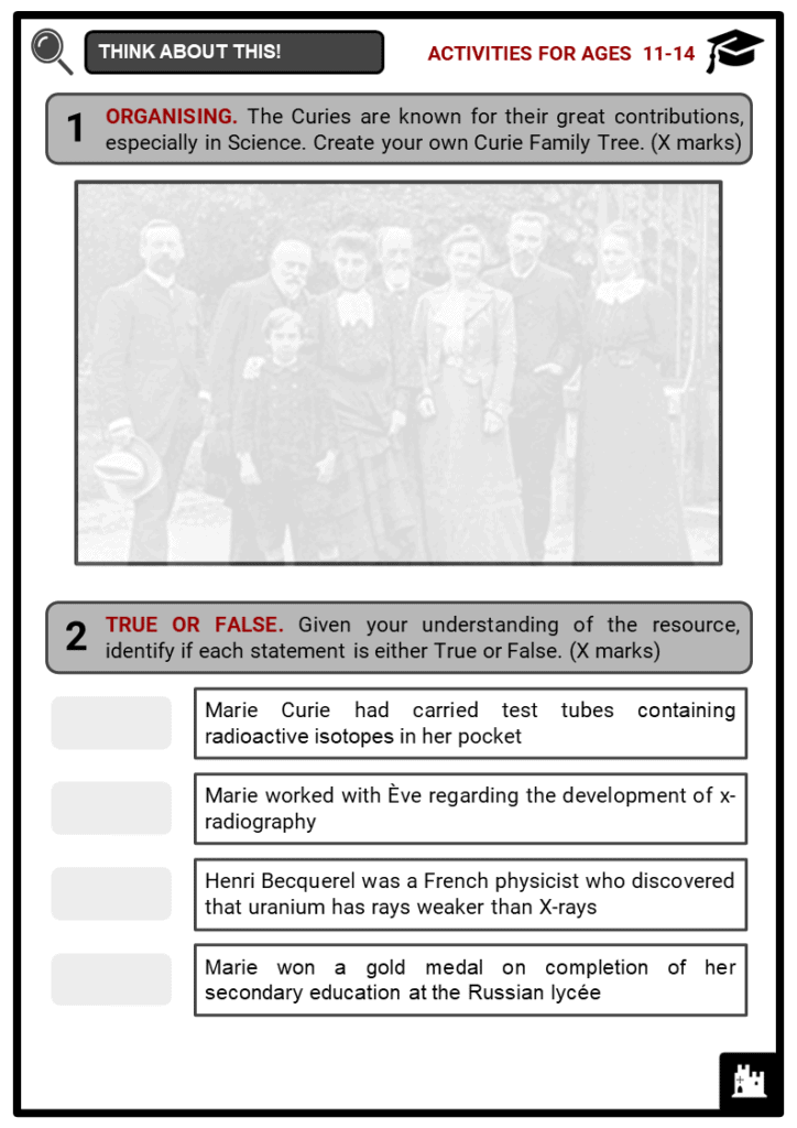 Marie Curie Student Activities & Answer Guide 1