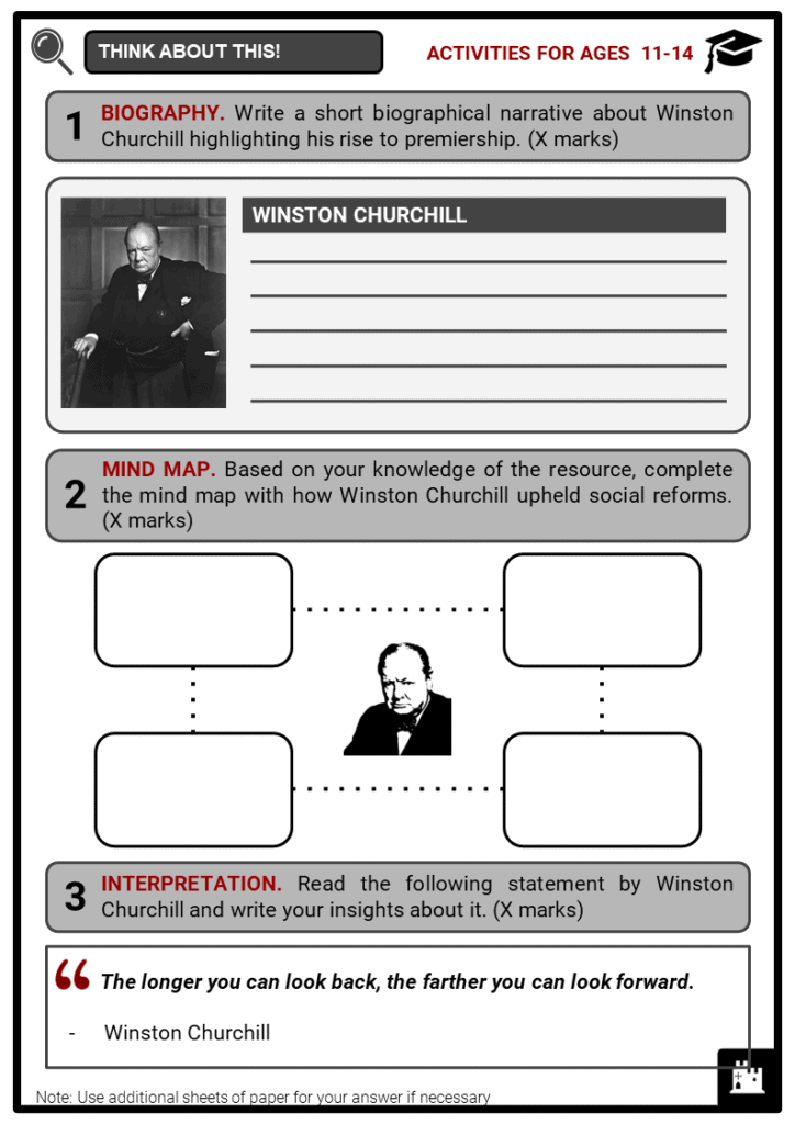 Winston Churchill Student Activities & Answer Guide 1