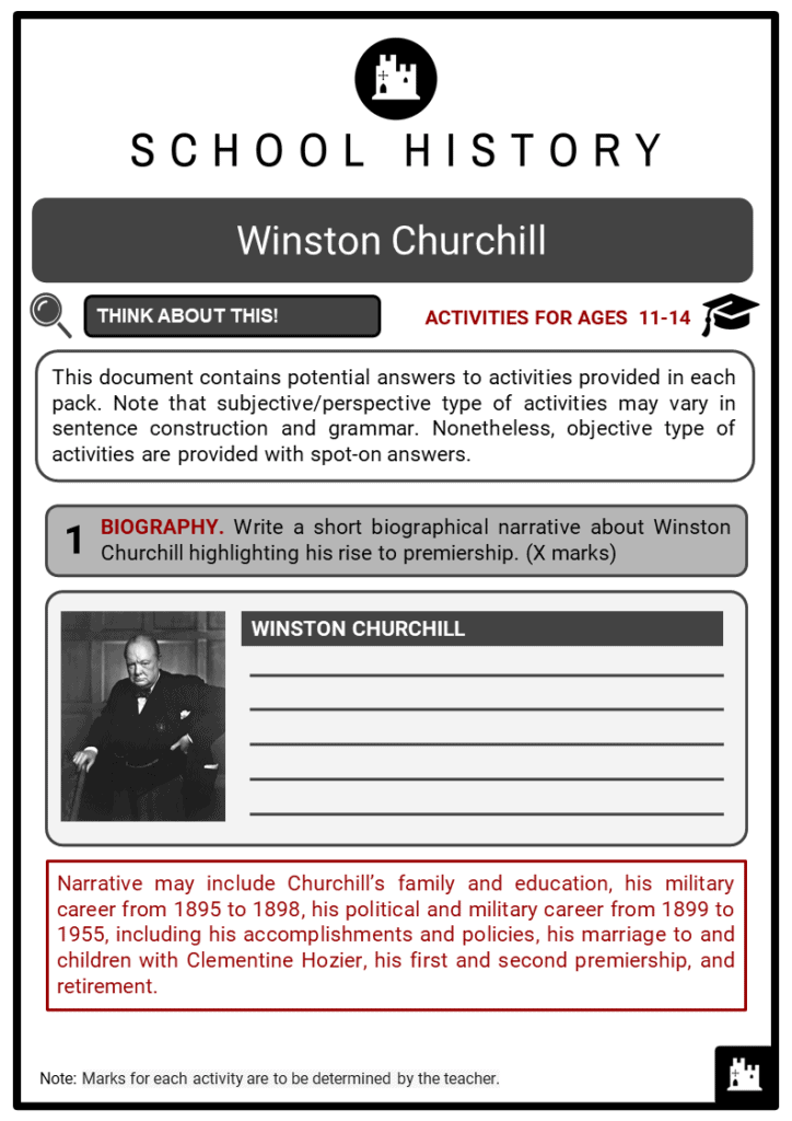 Winston Churchill Student Activities & Answer Guide 2