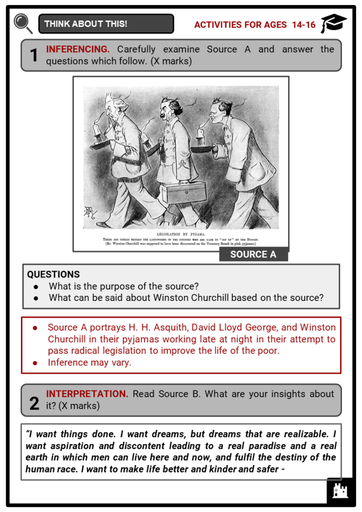 Winston Churchill Student Activities & Answer Guide 4