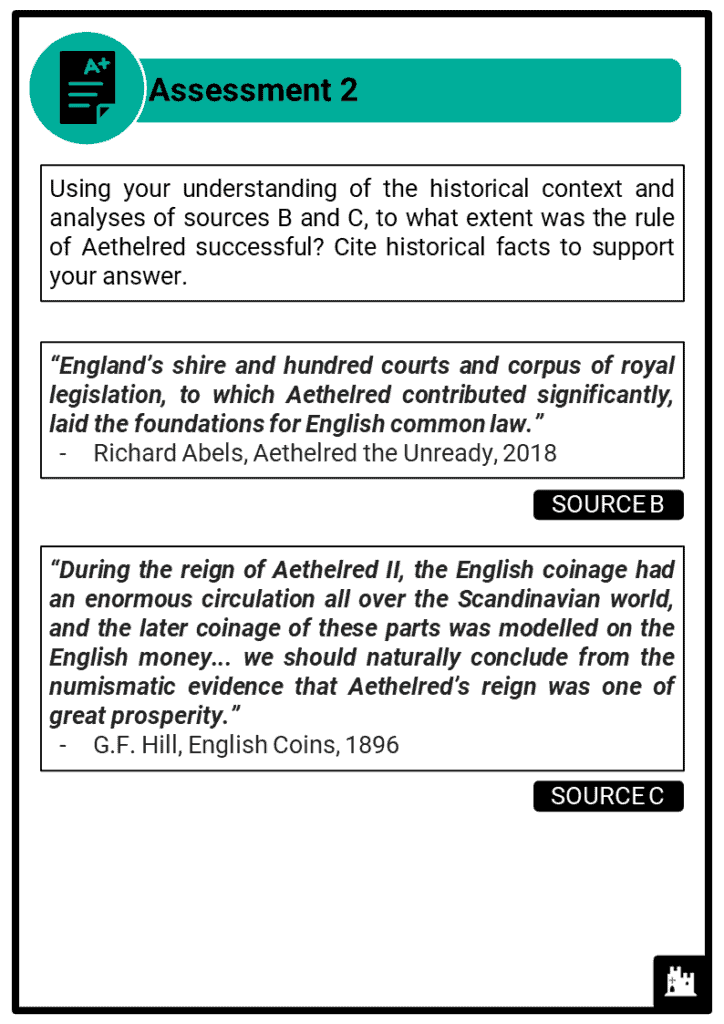 A Level Aethelred, 978-1016 Assessment 2