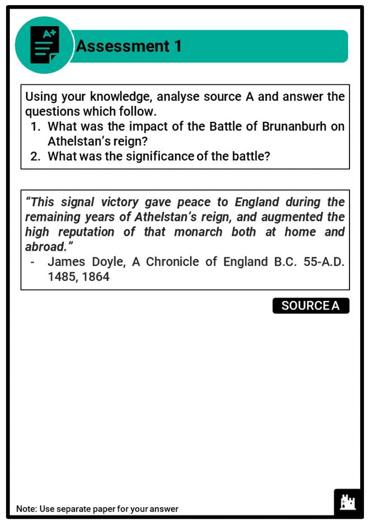 A Level Athelstan, 924-939 Assessment 1