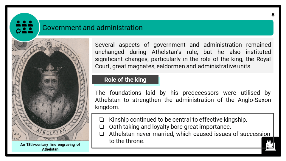A Level Athelstan, 924-939 Presentation 4