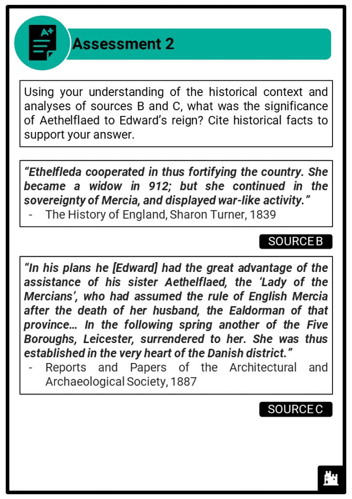 A Level Edward the Elder, 899-924 Assessment 2