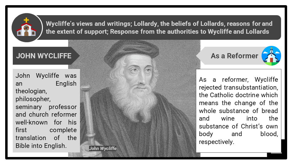 A Level The Church and Medieval Heresy_Significant figures Presentation 1