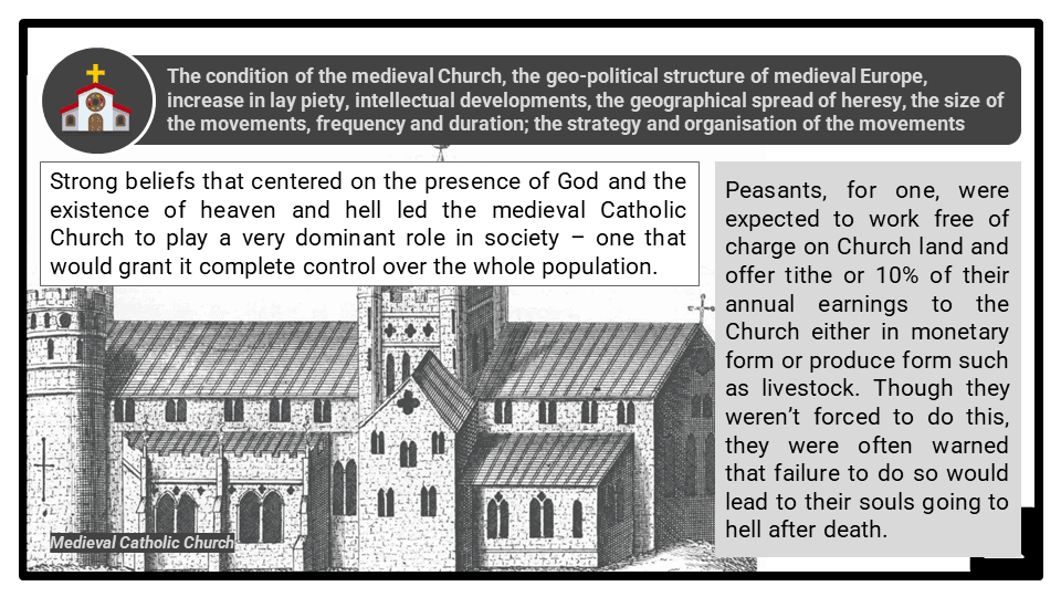 A Level The causes and nature of the heretical movements Presentation 1