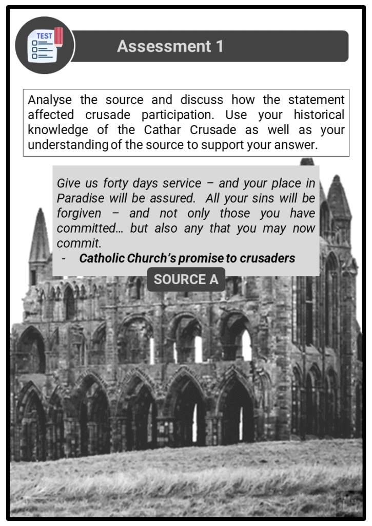 A Level The impact of heretical movements upon the medieval Church Assessment 1