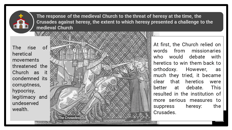 A Level The impact of heretical movements upon the medieval Church Presentation 1
