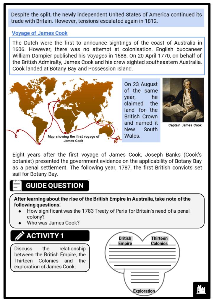 Australia and penal colonies printout 2