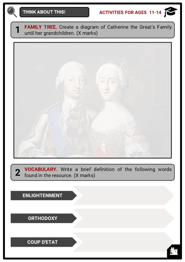 Catherine the Great Student Activities & Answer Guide 1