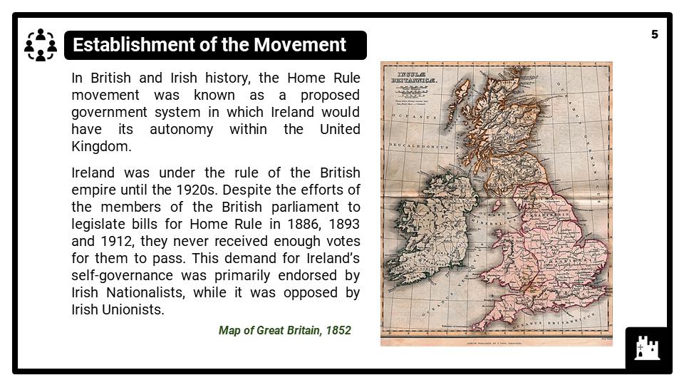 KS3_Area 3_The Irish Home Rule_Presentation 1