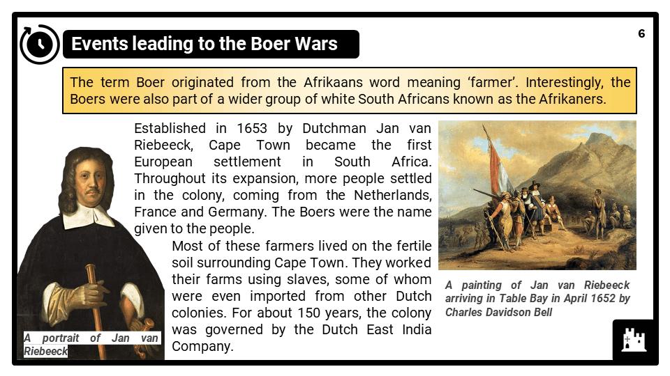 KS3_Area 3_The South African Boer Wars_Presentation 2