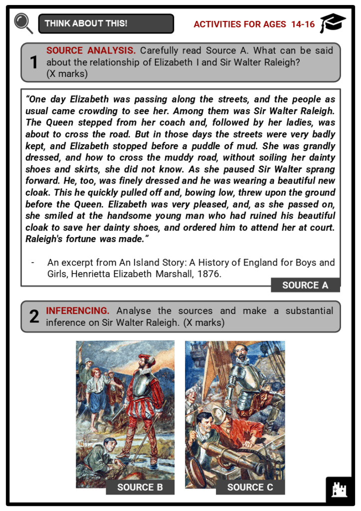 Sir Walter Raleigh Student Activities & Answer Guide 3