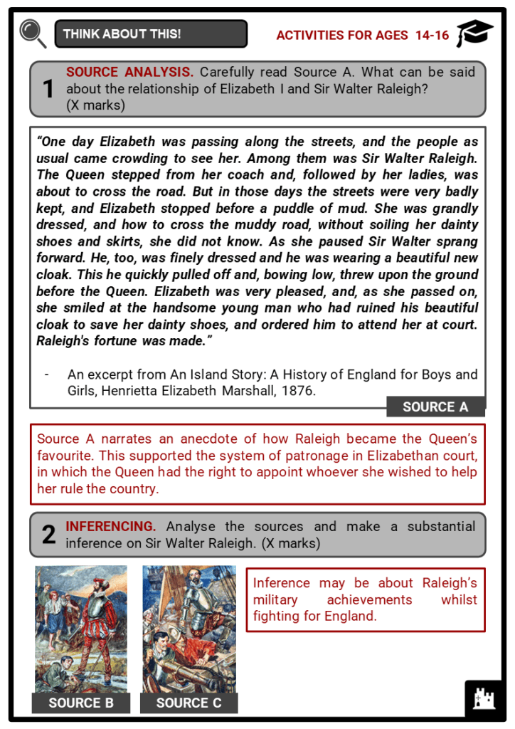 Sir Walter Raleigh Student Activities & Answer Guide 4