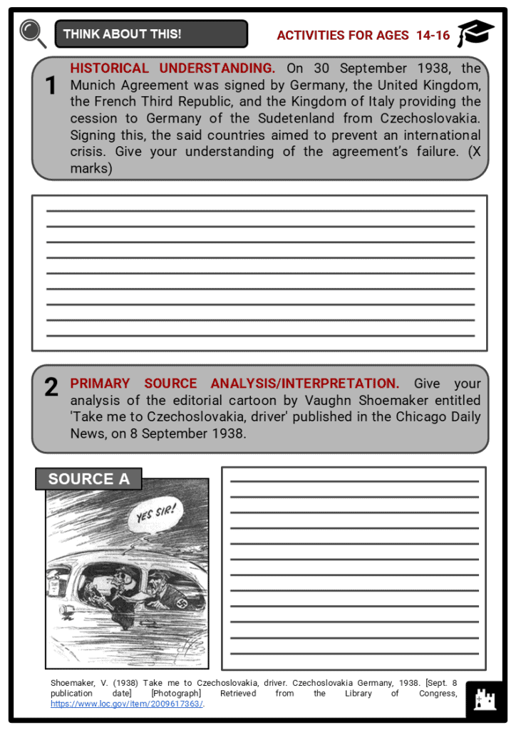 Sudetenland Student Activities & Answer Guide 3