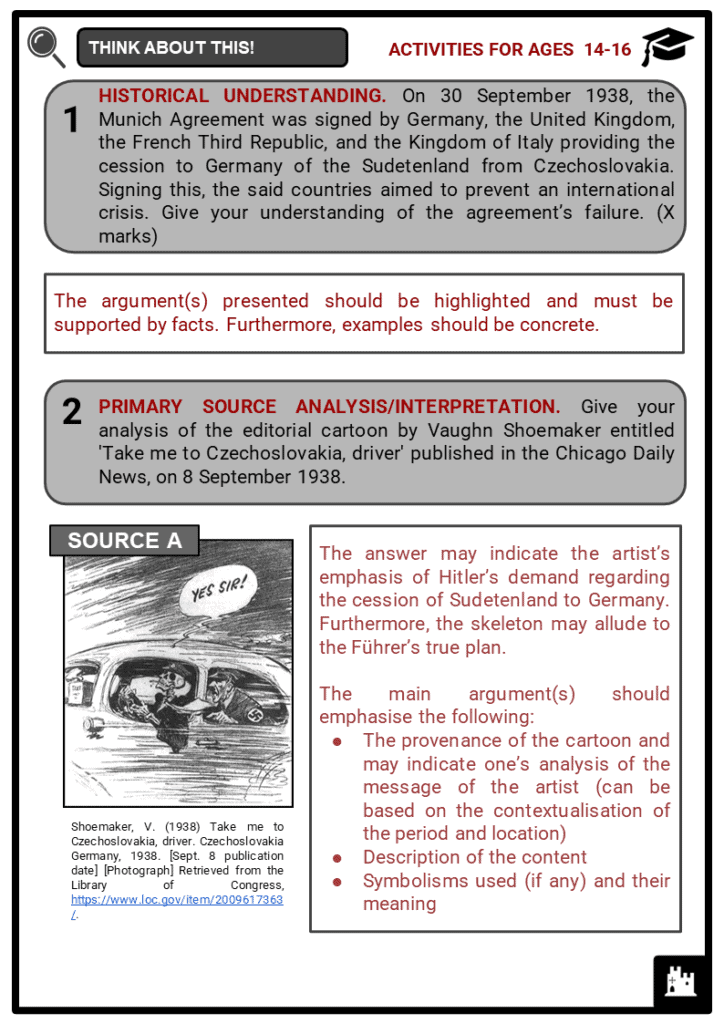 Sudetenland Student Activities & Answer Guide 4