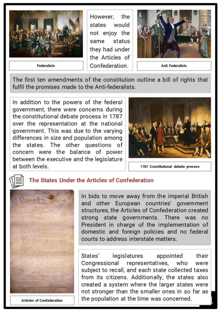 The Balance Of State and Federal Powers Resource Collection 2