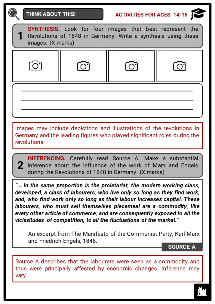 The Revolutions of 1848 in Germany Student Activities & Answer Guide 4