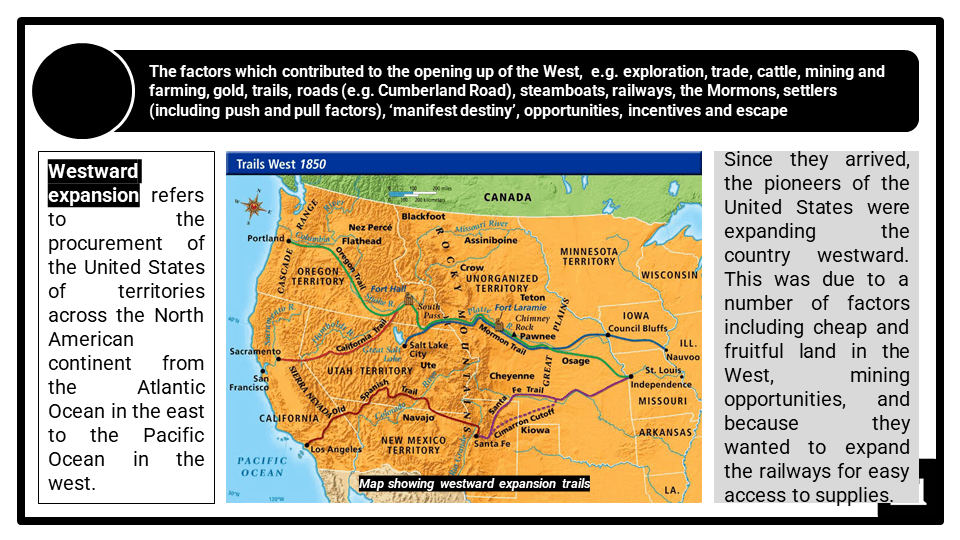 A Level Westward expansion causes and impacts Presentation 1