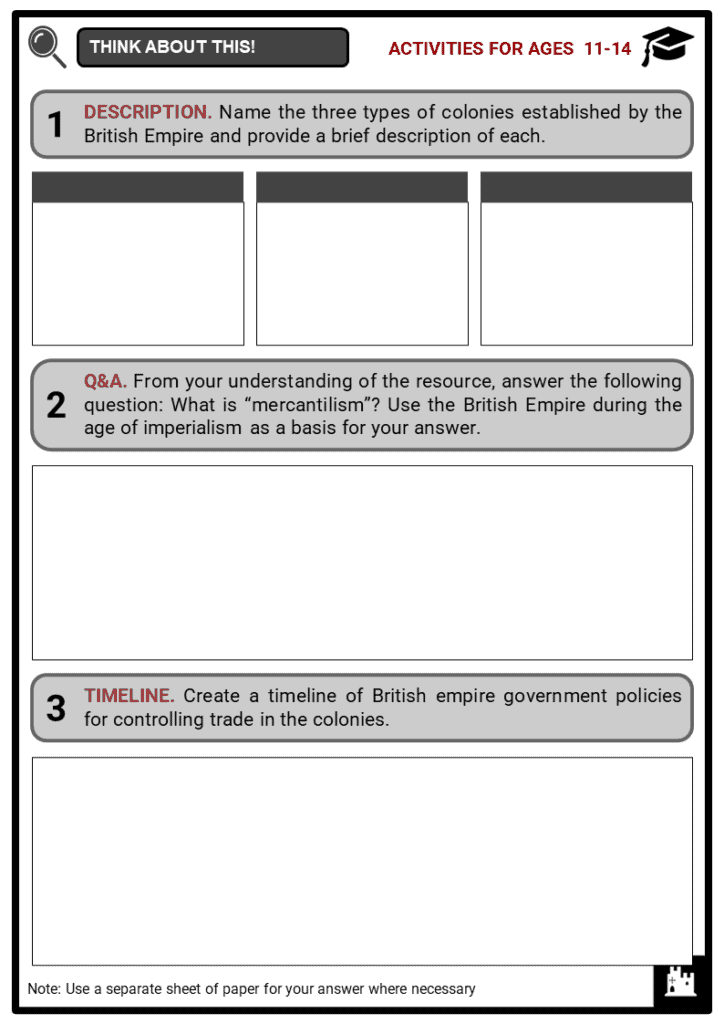 Administration Of Colonial Government Student Activities & Answer Guide 1