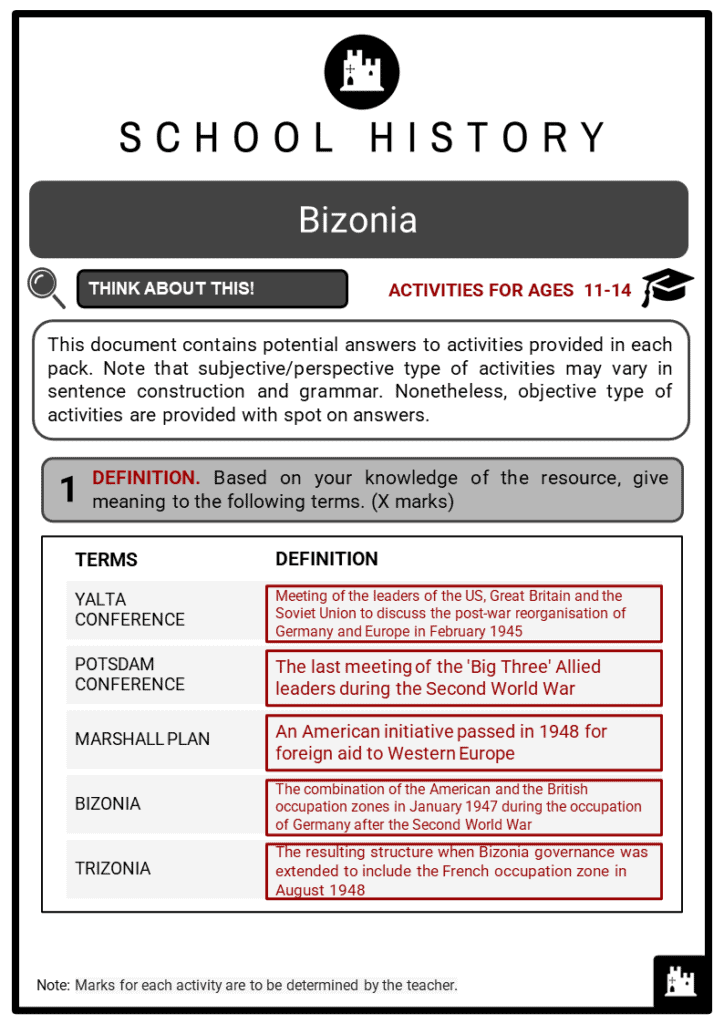 Bizonia Student Activities & Answer Guide 2