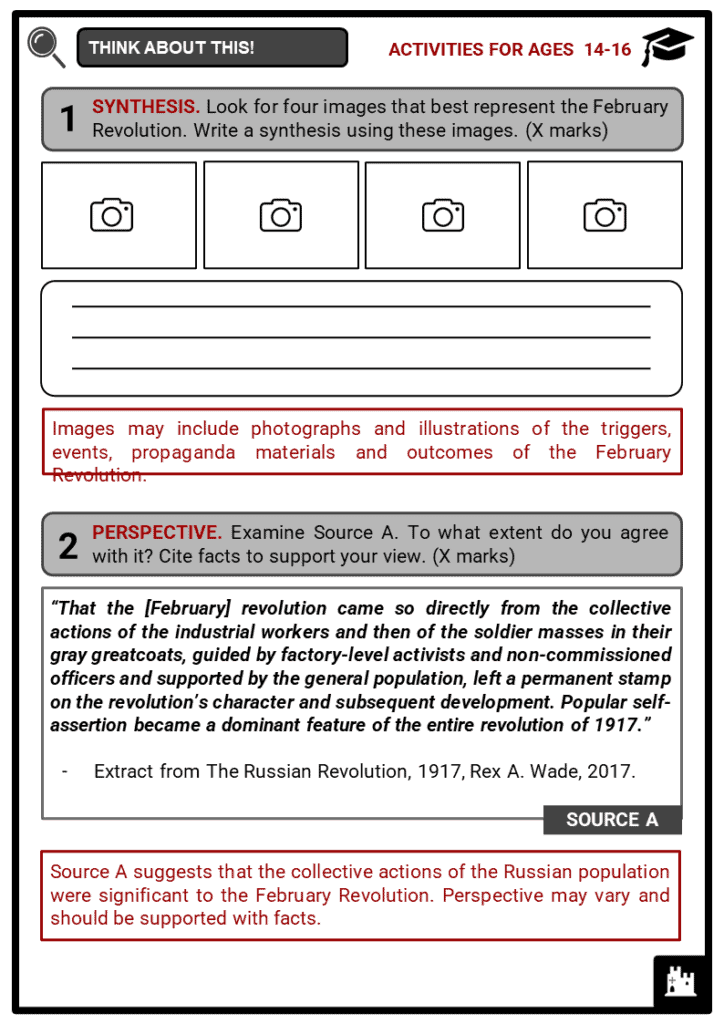 February Revolution Student Activities & Answer Guide 4