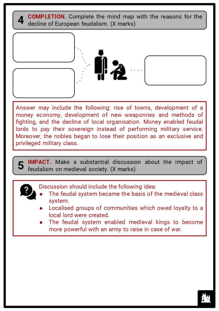Feudalism Student Activities & Answer Guide 4