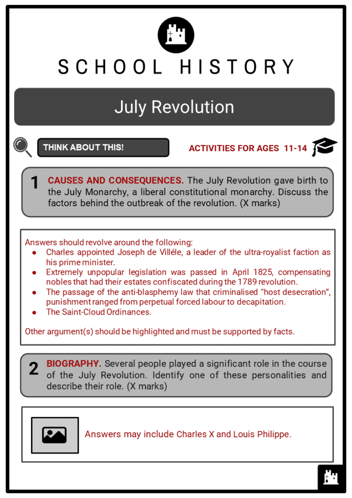 July Revolution Student Activities & Answer Guide 2