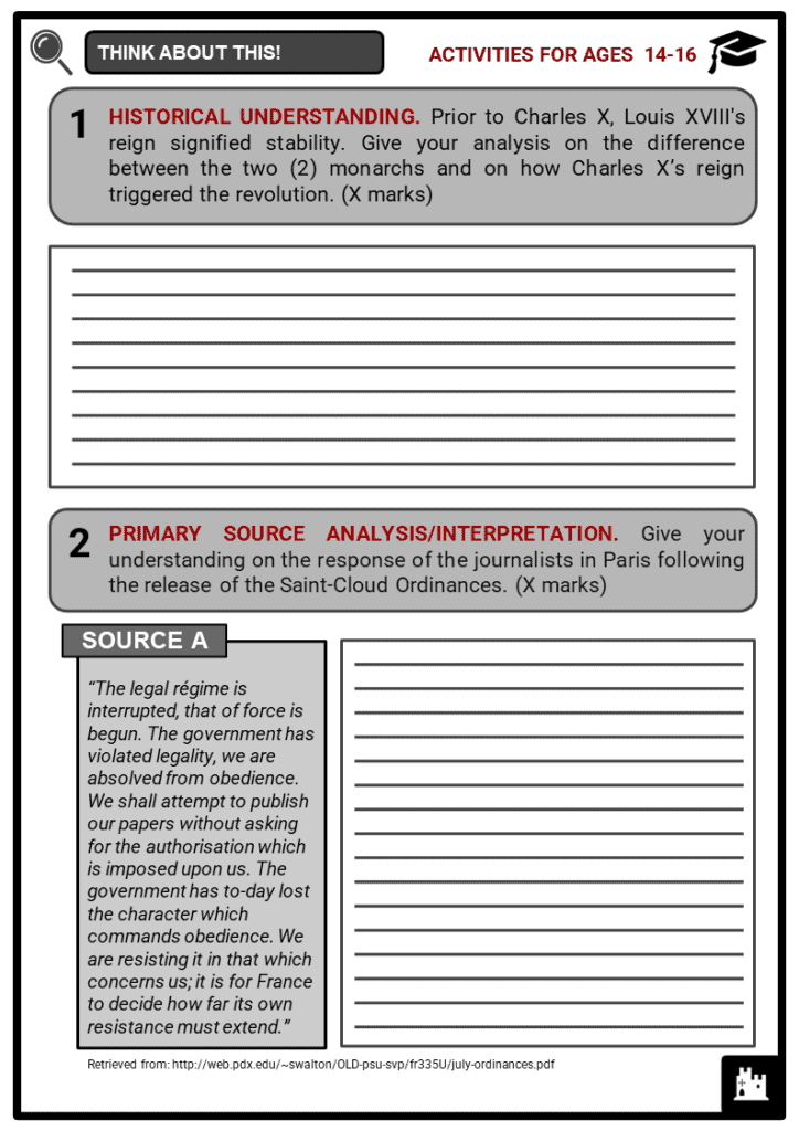 July Revolution Student Activities & Answer Guide 3
