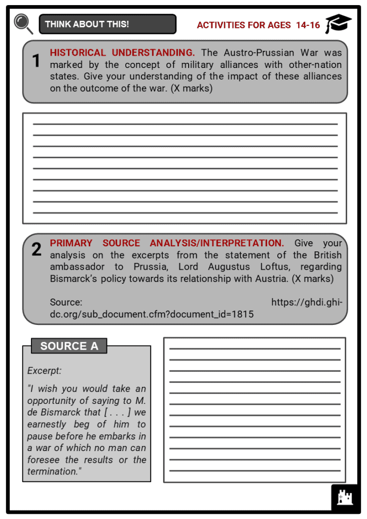 The Austro-Prussian War Student Activities & Answer Guide 3