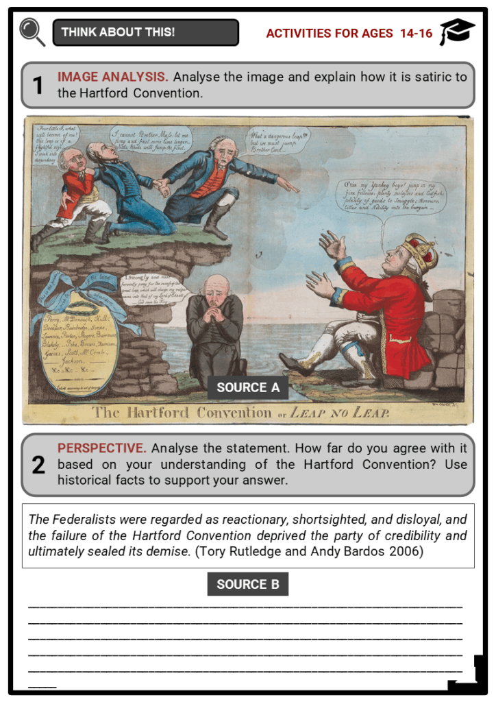 The Hartford Convention and the Treaty of Ghent Student Activities & Answer Guide 3