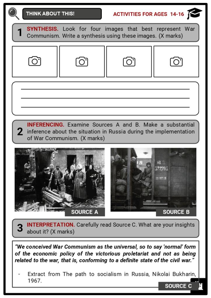 War Communism Student Activities & Answer Guide 3